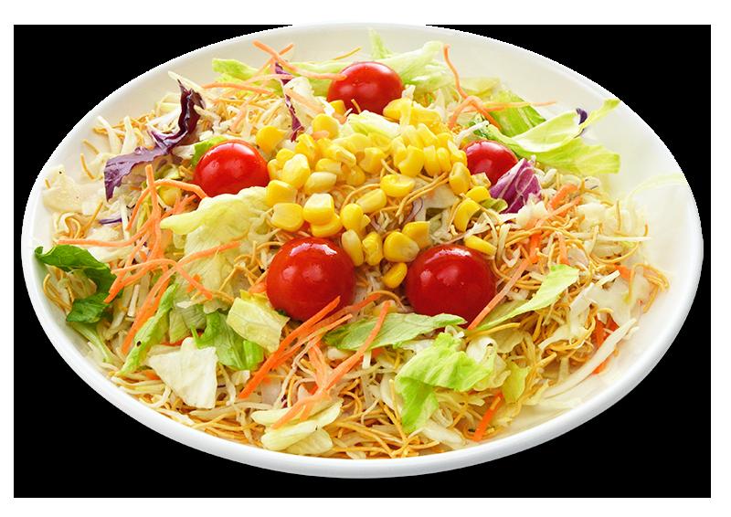 麺処小川屋のパリッとサラダ麺の調理例